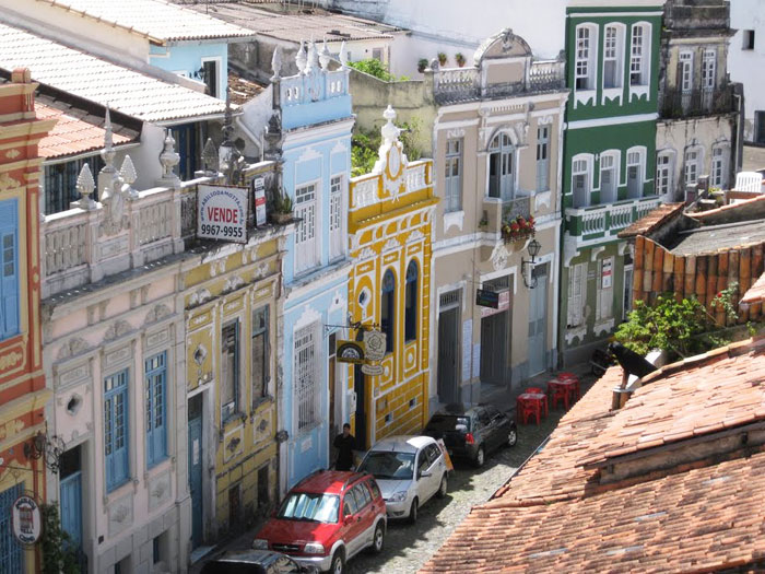Colorful Houses in Pelourinho, Brazil