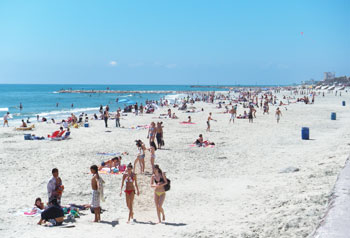Galveston Island has miles of beaches.