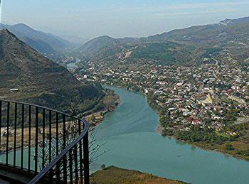 View of the Mtkvari from the Jvari Church