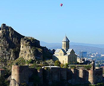 The Narikala Fortress in Tbilisi