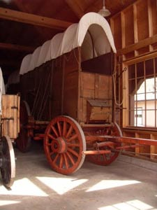 Wagon museum in Ketchum, Idaho.