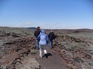 Walking over lava in central Idaho. photos by Amanda J. Freerksen