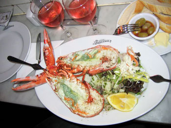 The lobster at Randall and Aubin