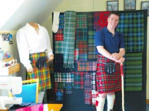 Wearing a kilt in honor of Nova Scotia's Scottish roots.