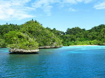 We visited many of Raja Ampat's islands.