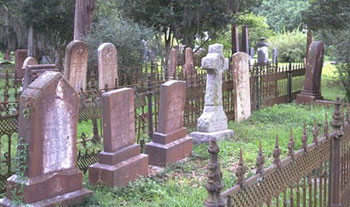 The cemetery of St. Francisville's Grace Episcopal Church feels ancient, sacred and silent.
