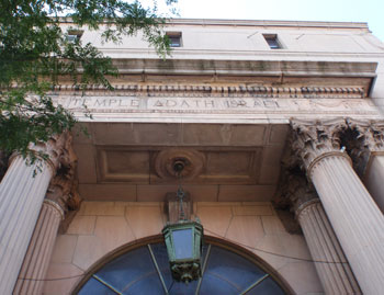 The First Union Baptist Church was originally a synagogue.