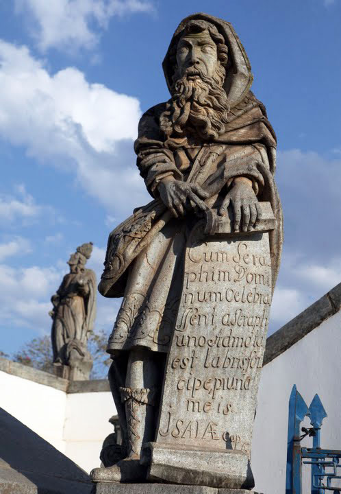 A statue of the Prophet Isaiah by Aleijadinho, 'The Little Cripple'