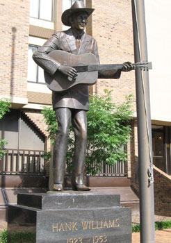 Hank Williams' last live performance took place in Montgomery.