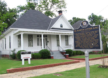 The Dexter Avenue Parsonage was restored to look just as it did when Dr. Martin Luther King Jr. and his family lived there.