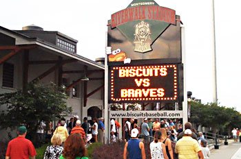 Riverwalk Stadium is the home of the Montgomery Biscuits.