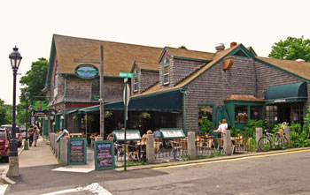 """Rupununi, an American Bar and Grill on the Main Street of Bar Harbor, where we were entertained with live Jazz by Juliane Gardner and her band, """"Shades of Blue""""."""