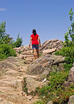 Esha on her way up the Gorham Mountain Trail