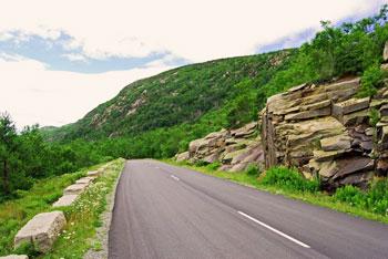 Park Loop Road in Acadia National Park in Maine.