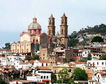 Santa Prisca and Santa Sebastian Church in Taxco, Mexico
