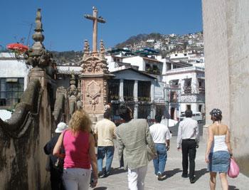 Street scene in Taxco, Mexico