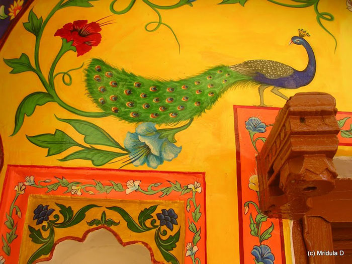 Painting on the Haveli where we stayed at Bundi