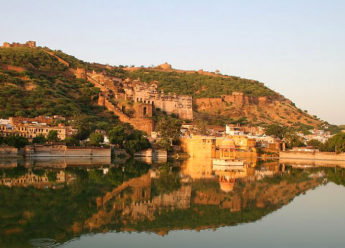 Reflections at Nawal Sagar, Bundi