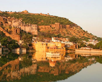 Reflections at Nawal Sagar, Bundi in Rajasthan, India. Photo by Mridula Dwivedi.