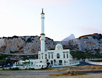 Ibrahim-al-Ibrahim Mosque on the Island of Gibraltar