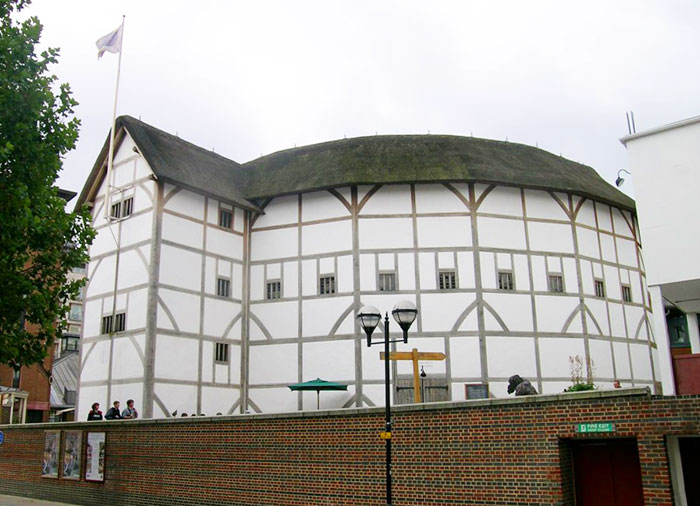 The Globe Theatre, restored as it was in Shakepeare's Day
