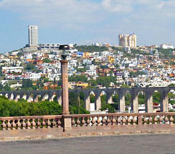 Queretaro's famous aqueduct