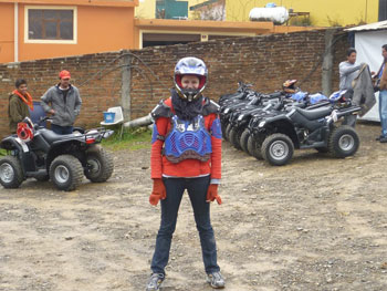 The author in ATV gear