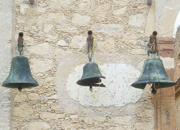 Bells at an abandoned mission outside of Querétero, Mexico