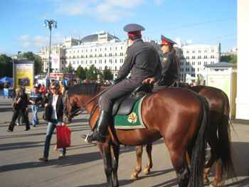 Patrolling the streets of Moscow