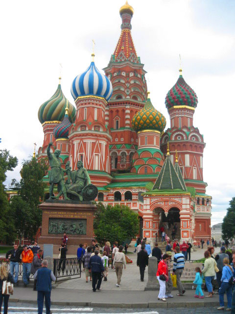 St. Basil's Cathedral in the Kremlin in Moscow