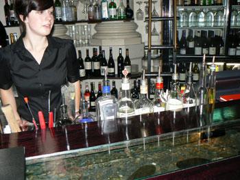 The bar at Logan Brown
