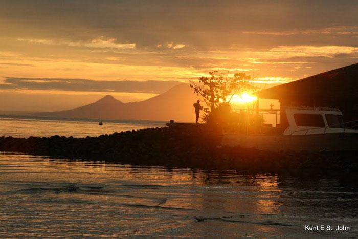 Sunrise at Walindi Resort, Papua New Guinea. Photos by Kent E. St. John.