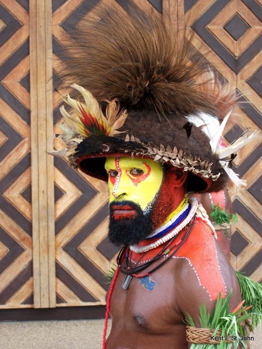 A tribesman in Papua New Guinea