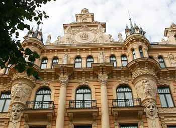Art Nouveau architecture in Riga, Latvia. Photos by Kirsten Knauf.
