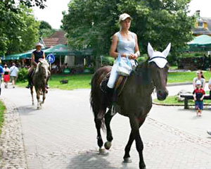 Riding in Trakai.