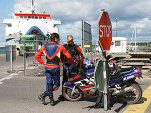 Waiting for the ferry to Saaremaa, Estonia