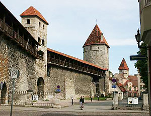 Part of the Medieval Town Wall in Tallinn, Estonia