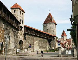 Part of the Medieval Town Wall in Tallinn, Estonia