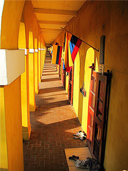 Portico in Cartagena, Colombia