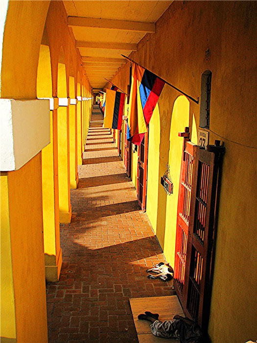 A porticos in Cartagena, Colombia