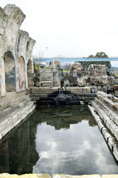 The Natatio, main pool of the thermal bath, was used for hot baths and considered the main meeting point for worshipping the Nymphs.