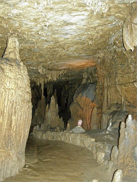 Formations inside Marengo Cave