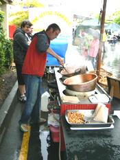 Peanut vendor at the Nelson Market. photo Max Hartshorne