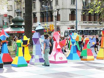 A chessboard in Montevideo, Uruguay