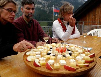 Cheese tasting at Sucka