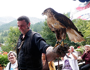 The Galina Falconry Show with Norman Vogeli in Malbun