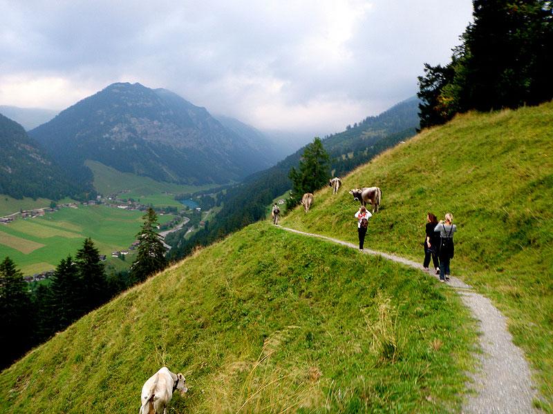 Hiking to Sücka in Steg, Liechtenstein. Photos by Maggie Freleng.