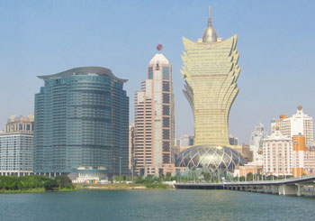 Macau skyline.