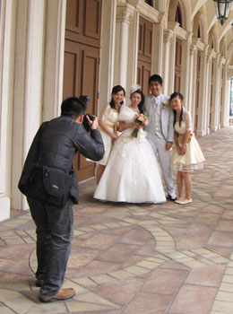 In China, November is a lucky month for weddings.