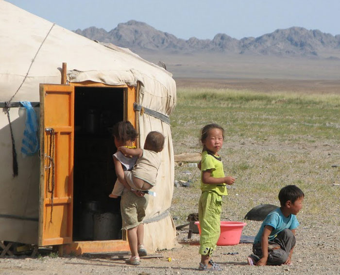 Mongolian kids are so innocent and playful. They don't have toys and we watched them play with sticks and stones. They made up intricate games amongst themselves.